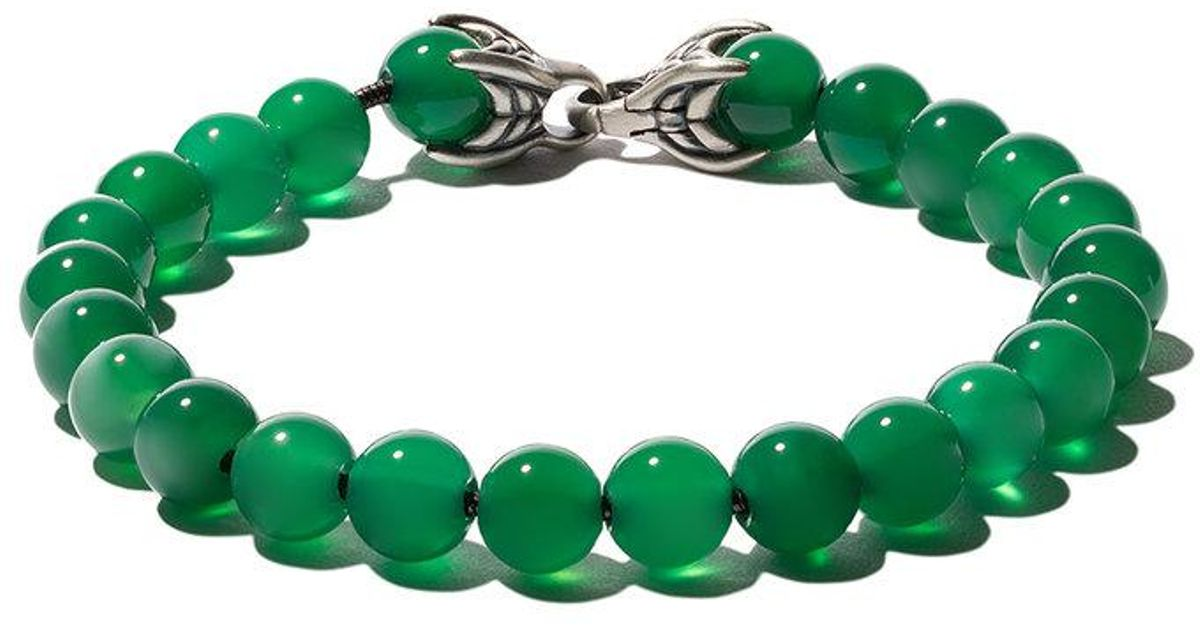 David Yurman Spiritual Beads Green Onyx Bracelet for men