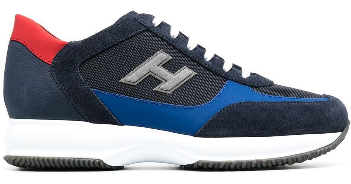 Hogan Leather Interactive Panelled Low-top Sneakers in Blue for ...