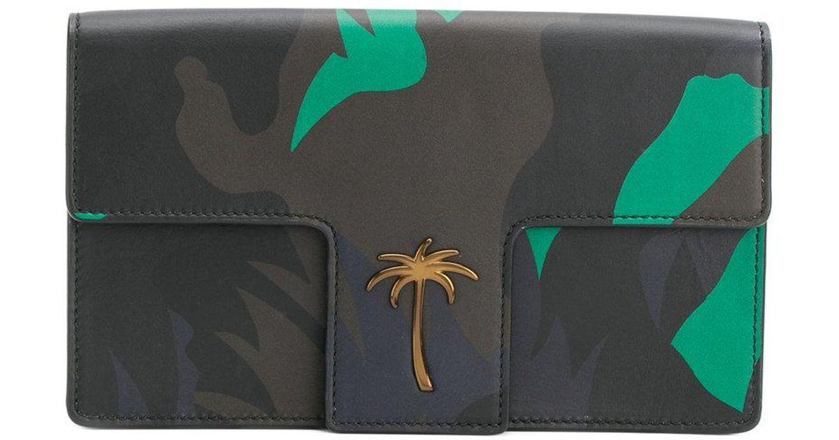 camo palm t-flap clutch - Black Tomas Maier suj7dxTCgR