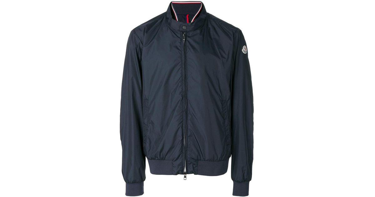 c891e6422 Lyst - Moncler Lightweight Zip Jacket in Blue for Men