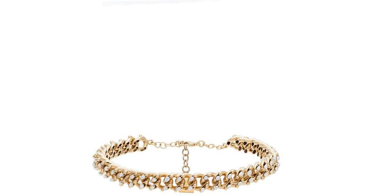 Rosantica metallic Ingranaggio pearl chain necklace 2GEiDMw