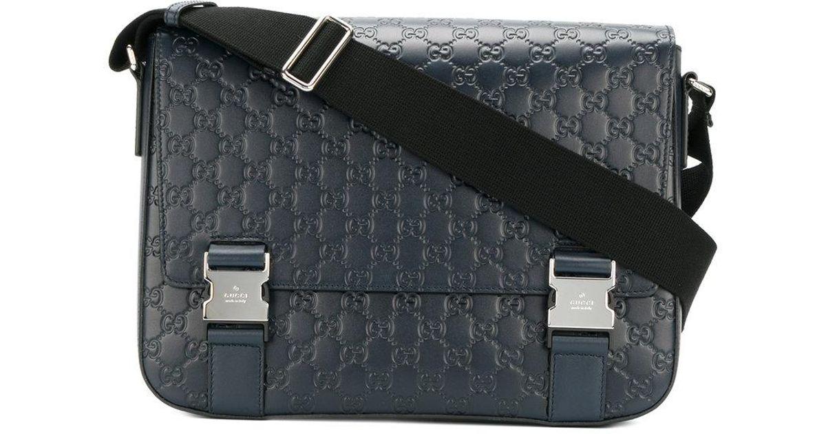 84b5353310 Sac porté épaule Signature Gucci pour homme en coloris Bleu - Lyst