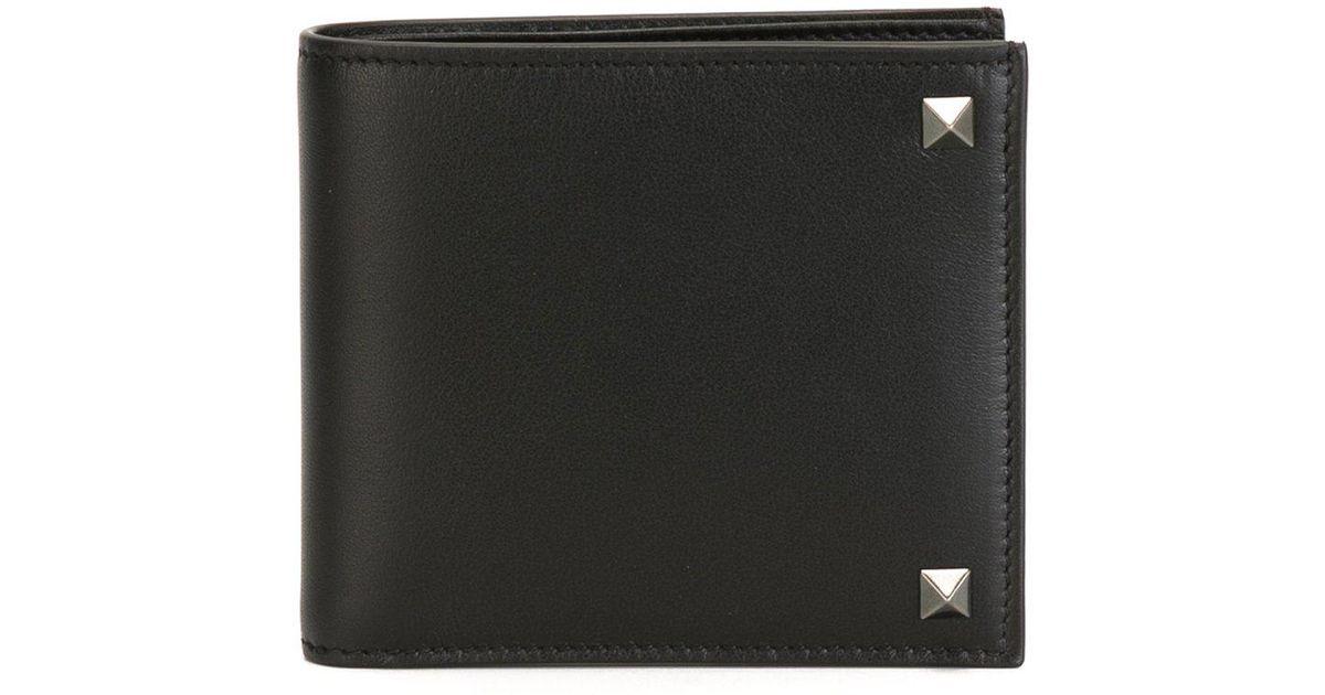 0941a8d70 Lyst - Billetera Rockstud Garavani Valentino de hombre de color Negro