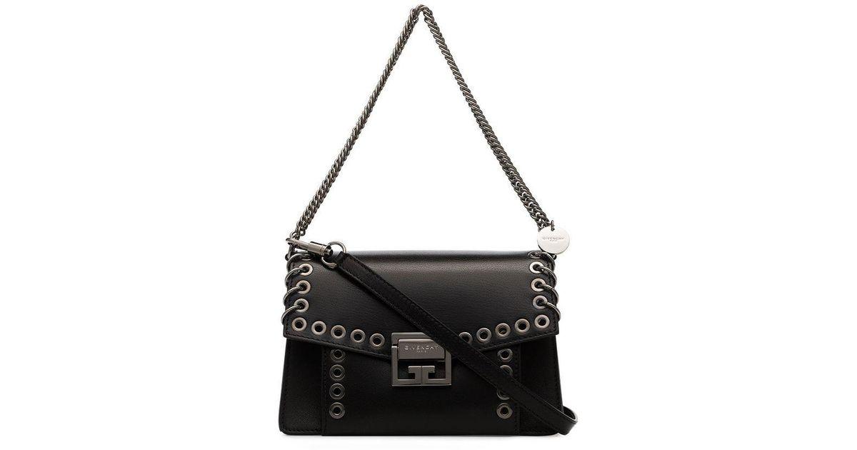 49c01530814d Lyst - Givenchy Black Gv3 Leather Crossbody Bag in Black