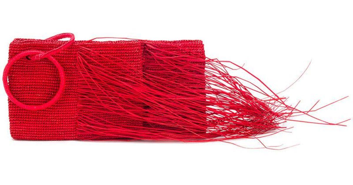 frayed woven clutch - Red Sensi Studio Websites Sale Online kq86jHAjV