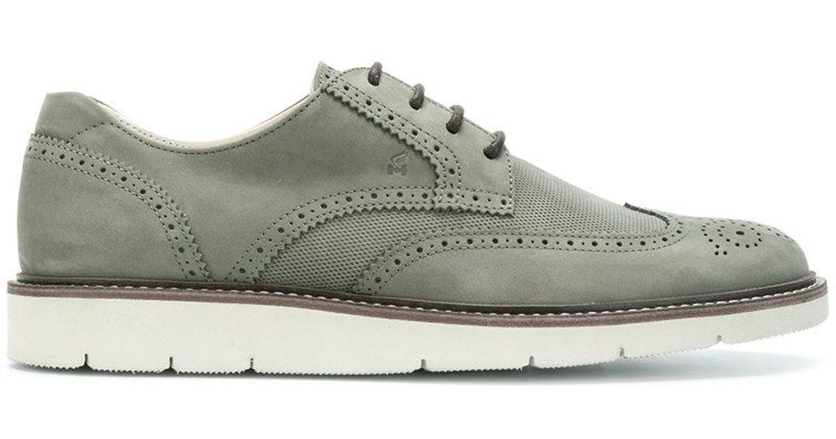 ridged sole Oxford shoes - Green Hogan Pay With Paypal Cheap Price Best Store To Get Cheap Price Top Quality Cheap Price l4mBYNJ2YO