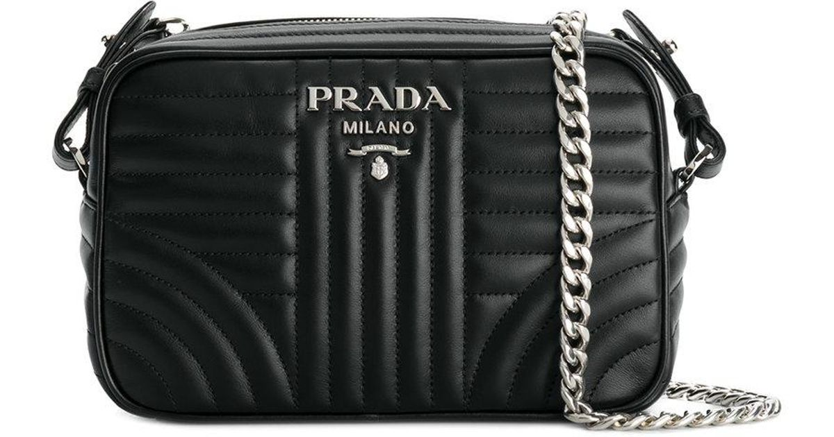 72bceb34a14a ... italy lyst prada bevelled camera bag in black save 23.519999999999996  c5183 f83bf