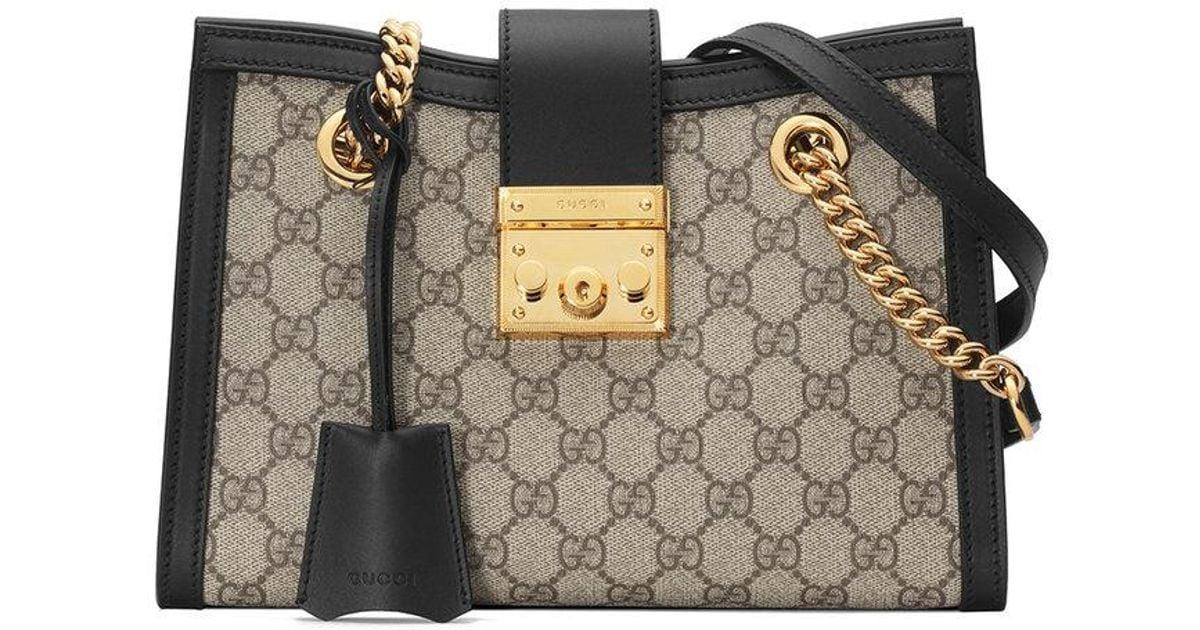 757dba683eea Gucci Padlock Small GG Shoulder Bag - Lyst