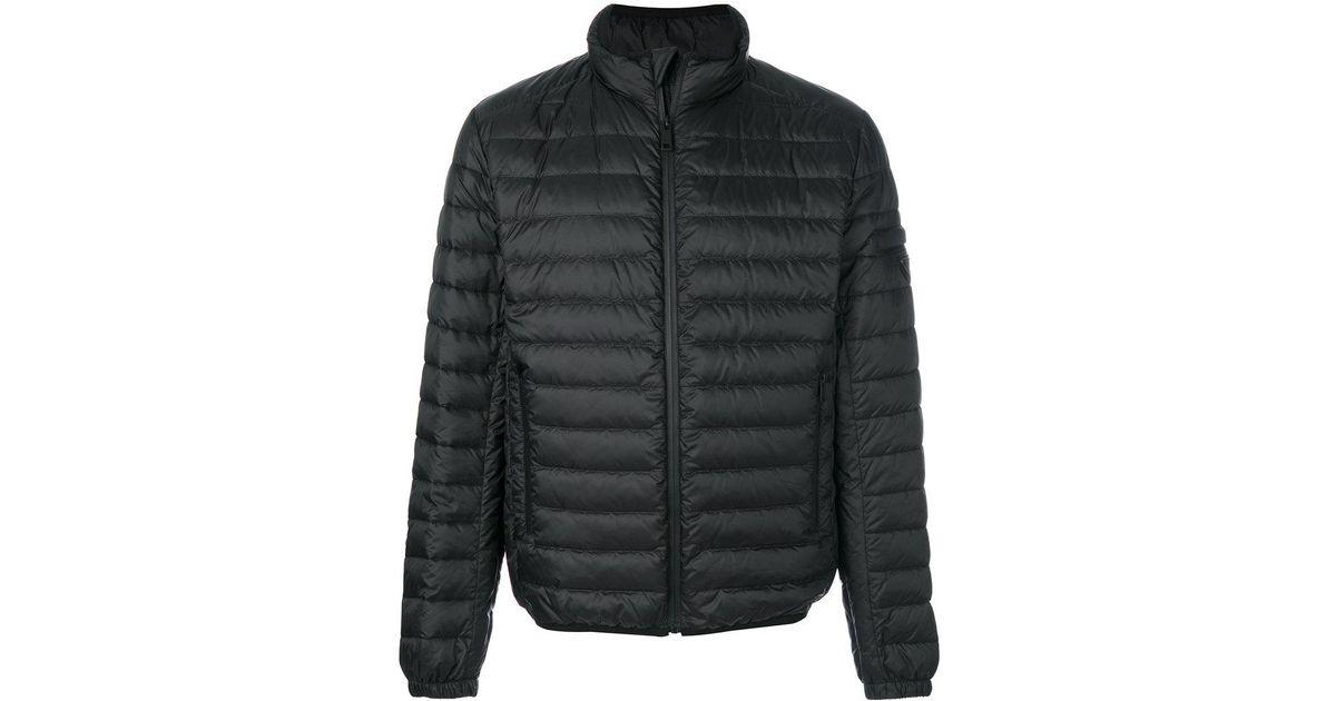 huge selection of 96456 48b79 Prada Black Piumino Pelleovo Jacket for men
