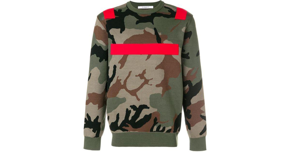 0e2a4699914 Lyst - Pull imprimé camouflage Givenchy pour homme en coloris Vert