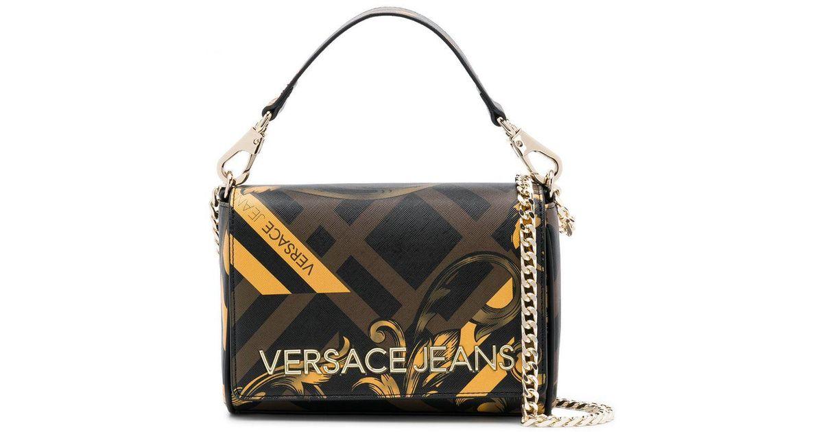 1ee8f048 Versace Jeans Brown Baroque Print Shoulder Bag
