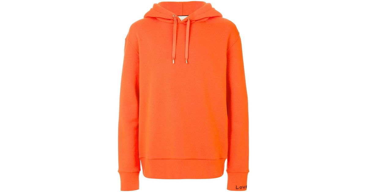 5f1fbb5de Gucci Embroidered Sweatshirt in Orange for Men - Lyst