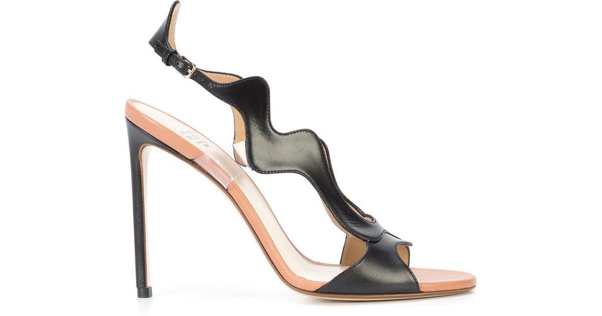 wavy sandals - Black Francesco Russo ZmwHVe4rC