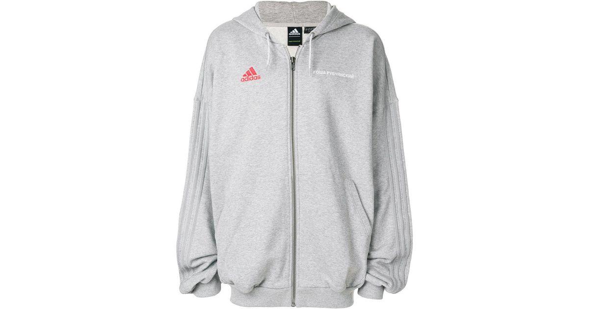 good quality good out x utterly stylish Gosha Rubchinskiy Black X Adidas Logo Embroidered Hoodie