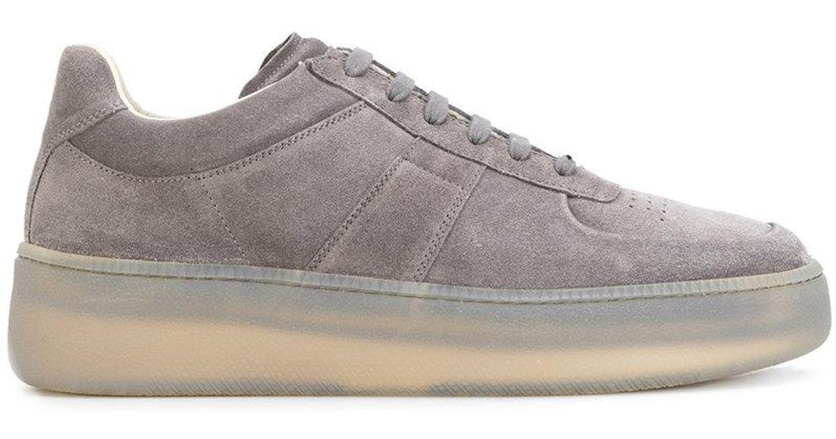 Platform Sole Low Top Sneakers in Grey