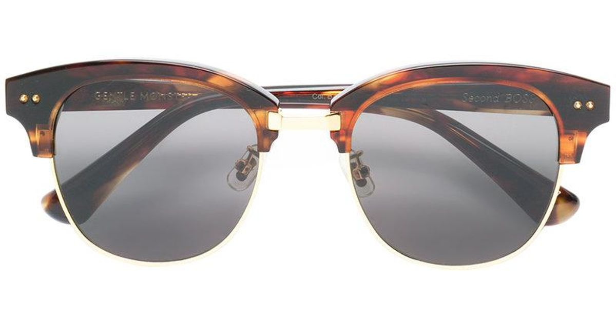 9444844d3d51 Lyst - Gentle Monster Second Boss Sunglasses in Brown