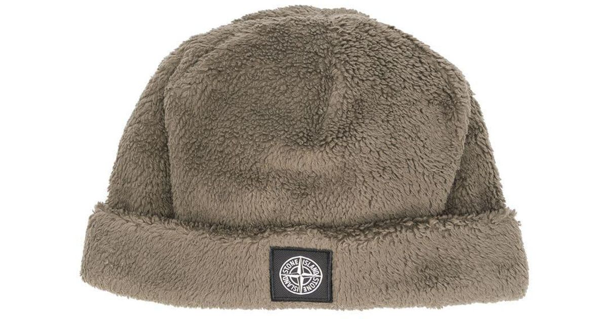 Lyst - Stone Island Short Rolled Beanie in Brown for Men 35db75f0559d