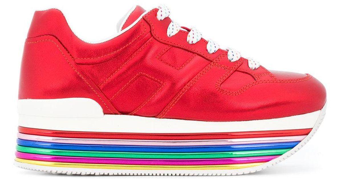 ae795413103b Lyst - Hogan Platform Sneakers in Red