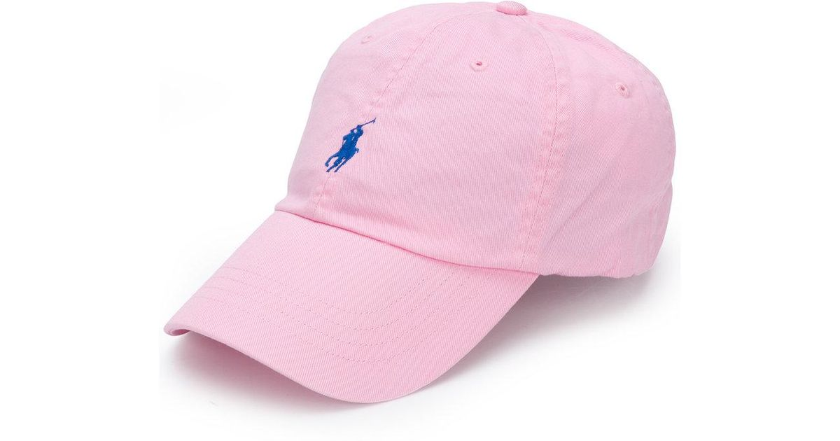 a9cb175d2 Casquette à logo brodé Polo Ralph Lauren en coloris Pink