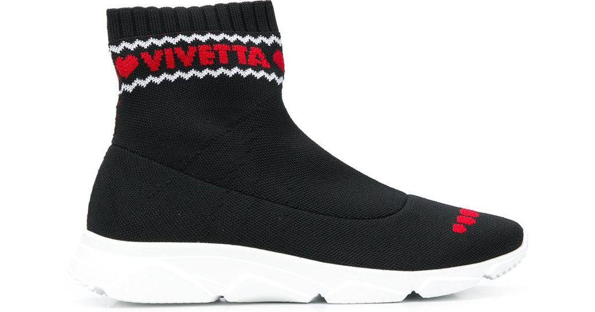 VIVETTA Intarsia sock sneakers t3FyASUjl