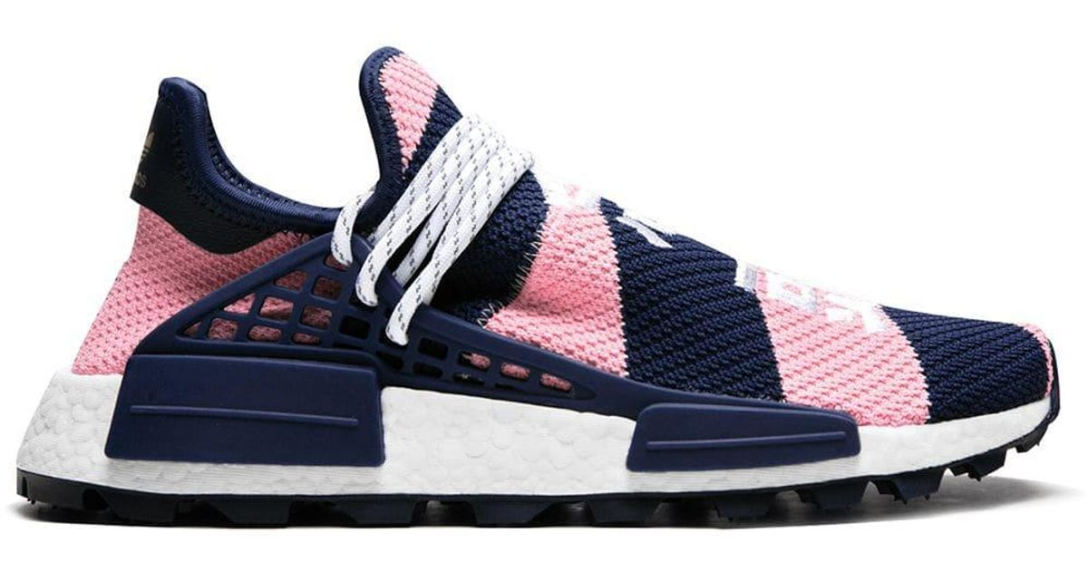 best service a52c2 01934 Adidas Pink X Pharrell Wililams X Bbc Nmd Hu Trail Sneakers for men