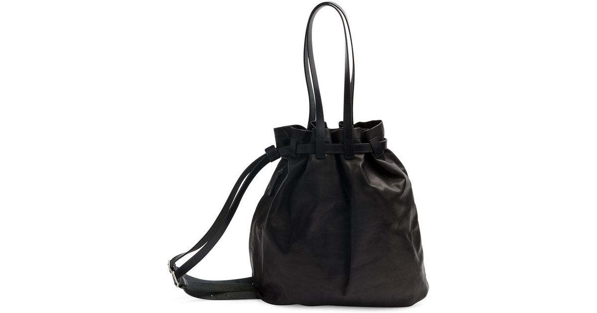 e79b0499ce Lyst - Yohji Yamamoto Drawstring Shoulder Bag in Black for Men