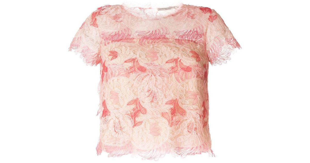 Lyst ermanno scervino lace flower blouse in pink mightylinksfo
