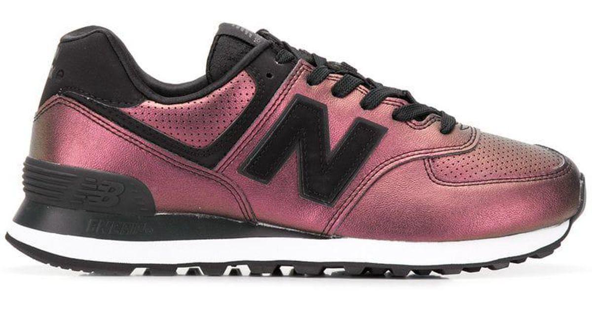 New Sneakers Lyst In Metallic Balance Pink 574 LVSUGjqMpz