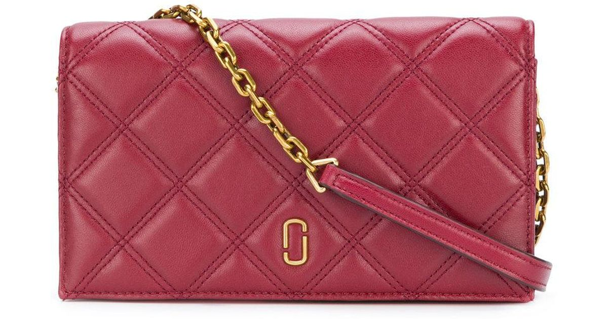 06dcd49b149b Marc Jacobs Quilted Shoulder Bag in Red - Lyst