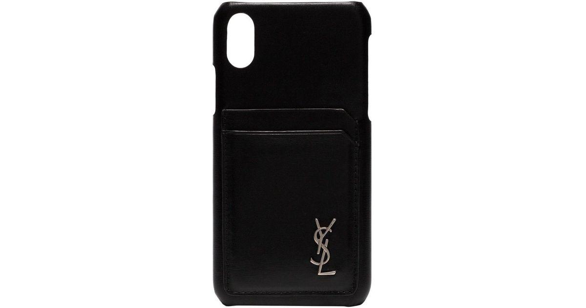 Saint laurent cover iphone 10 - di colore nero farfetch neri pelle