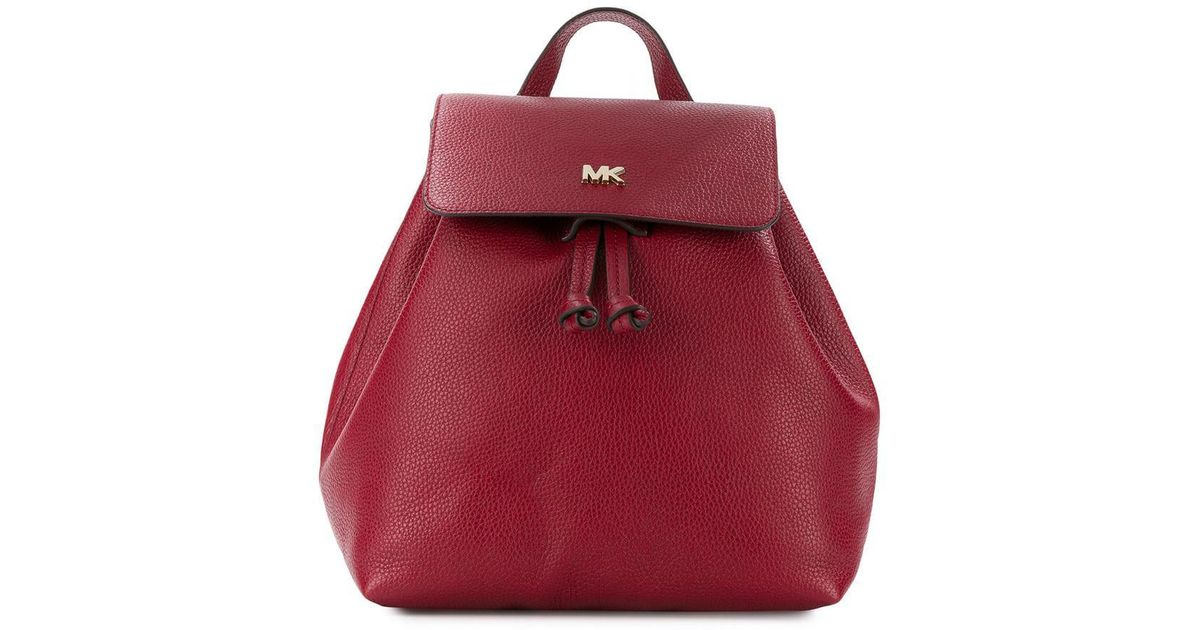918d2b04f3bbe ... store lyst michael michael kors wide shaped backpack in red 8d936 da58a