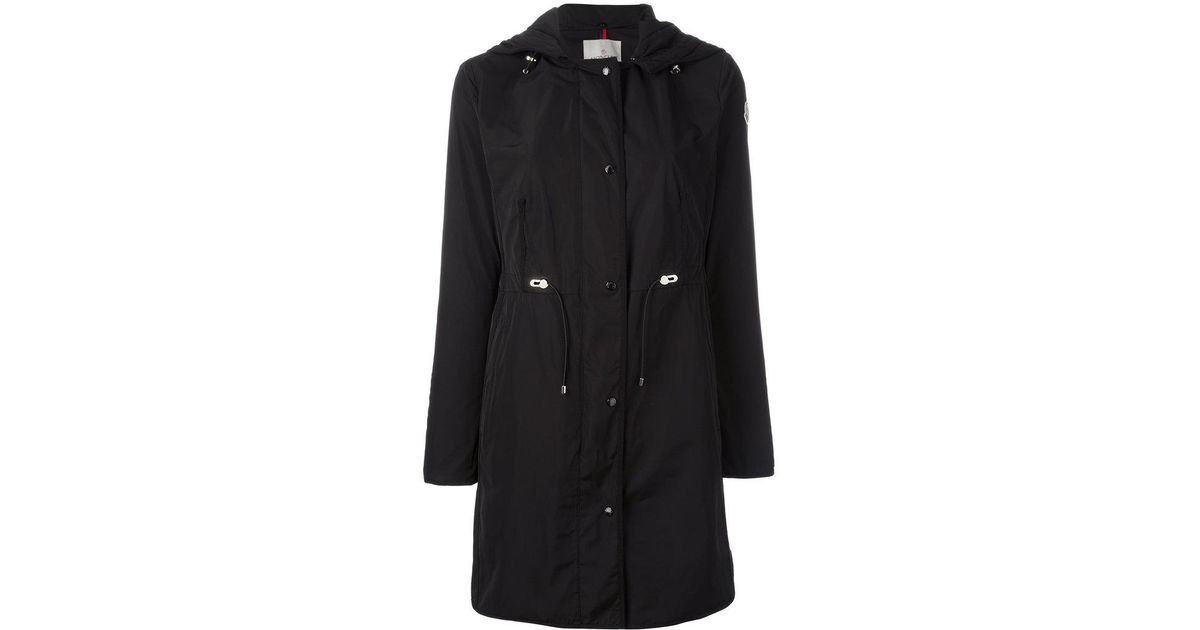 14c0b705e Moncler Black Anthemis Hooded Trench Coat