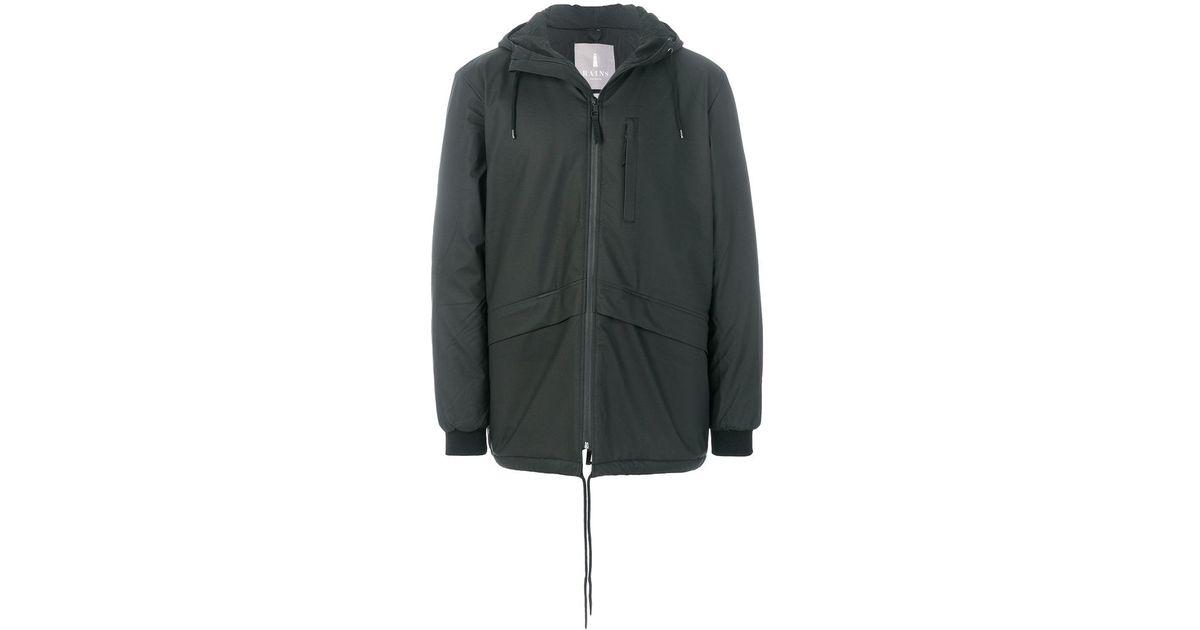 Rains N3 Parka Jacket in Black for Men | Lyst