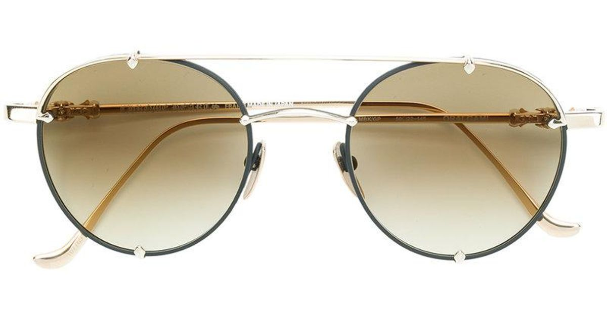 5e16364455b Chrome Hearts Round-frame Sunglasses in Metallic - Lyst
