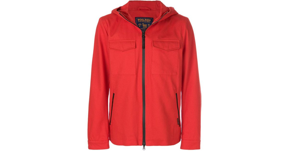 7a19bb401ab Woolrich Red Melton Field Jacket for men