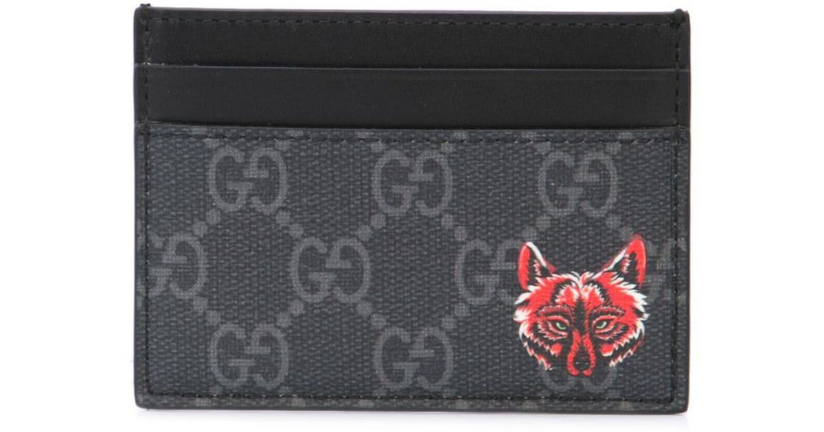 818697362390 Gucci GG Card Case With Wolf Head in Black for Men - Save 16% - Lyst