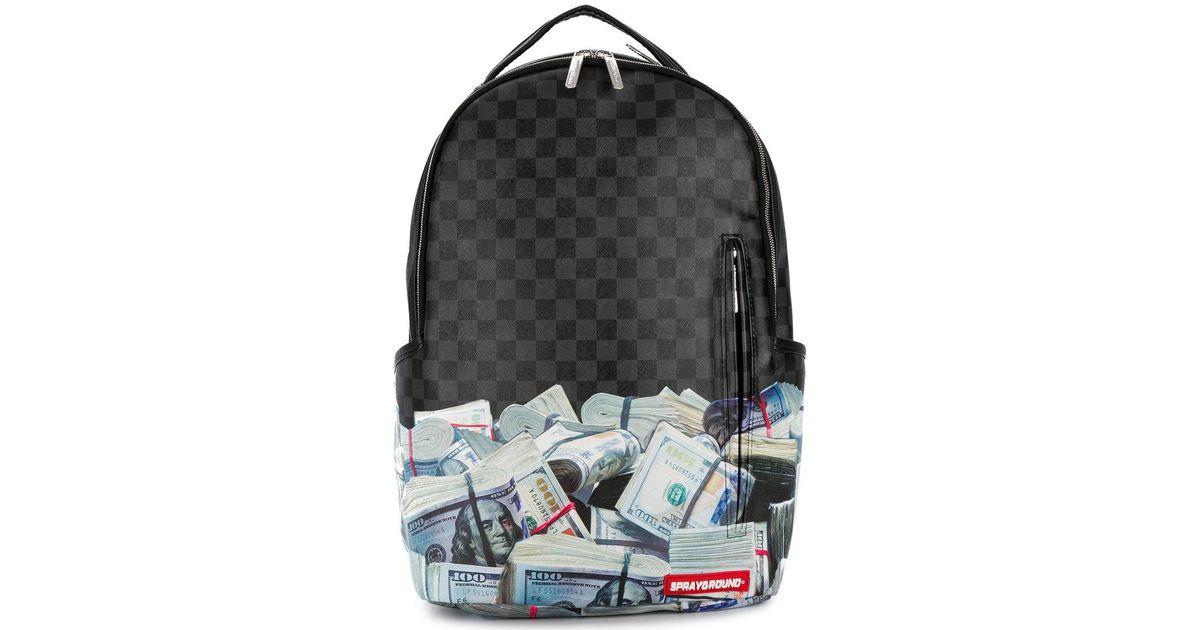 Print For Money Men Backpack Sprayground Black TJu3FclK1