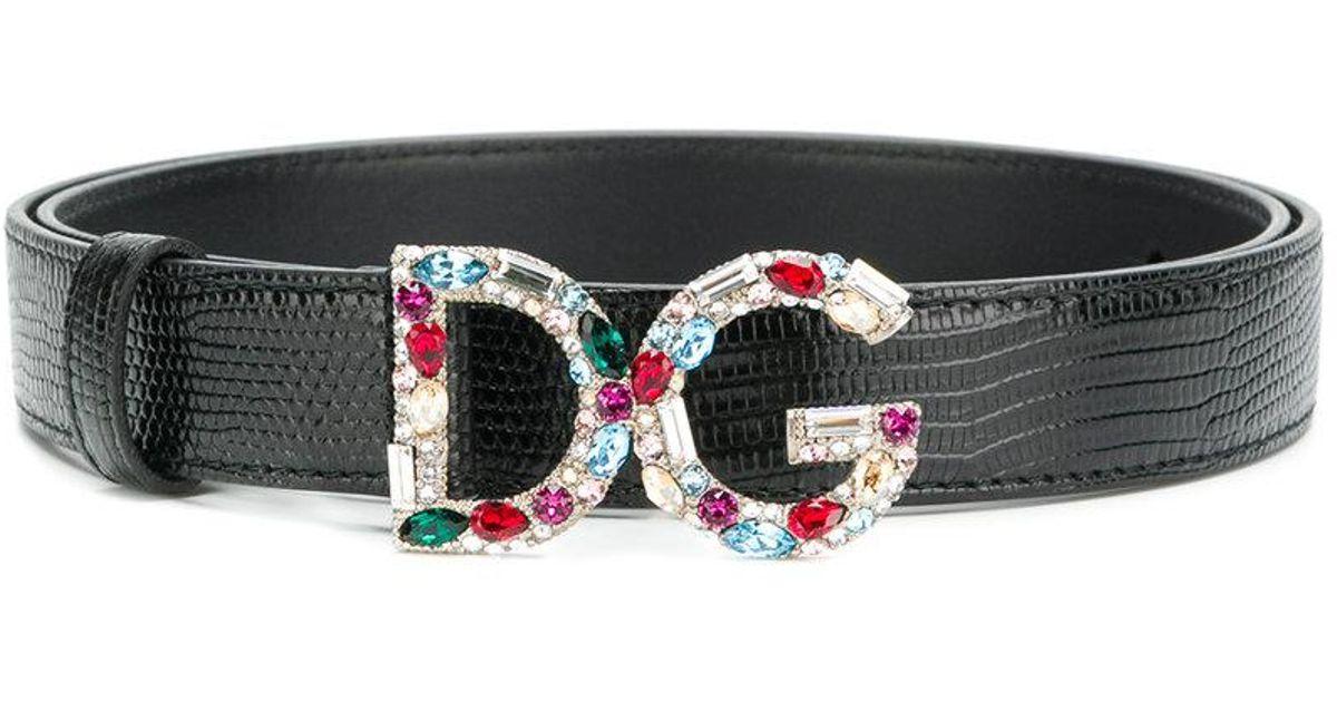 gemstone logo buckle belt - Metallic Dolce & Gabbana ze80Md