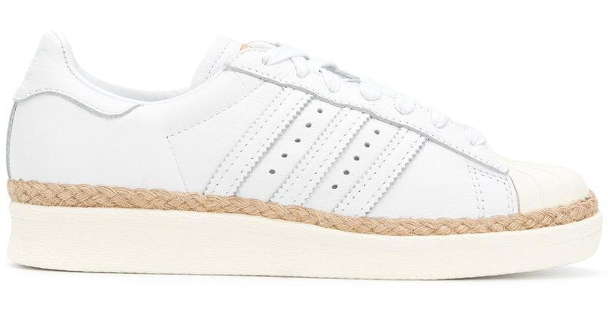 new style 8d96e e11d6 Adidas - White Superstar 80s New Bold Sneakers - Lyst