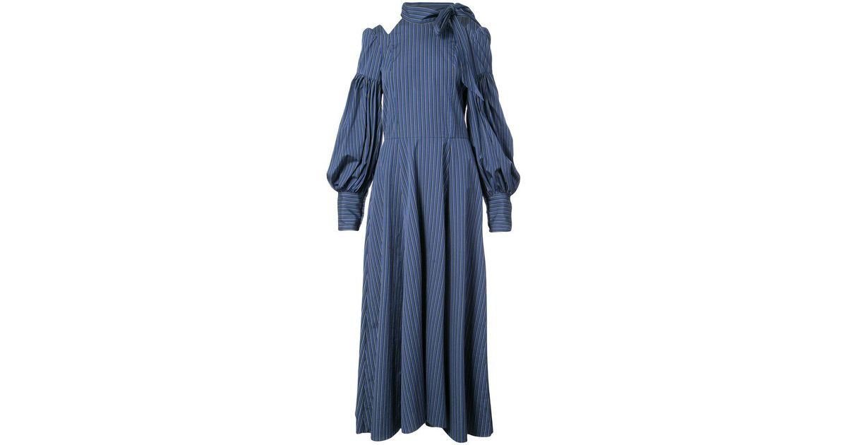 cold shoulder stripe dress - Blue Jill Stuart sfSOt