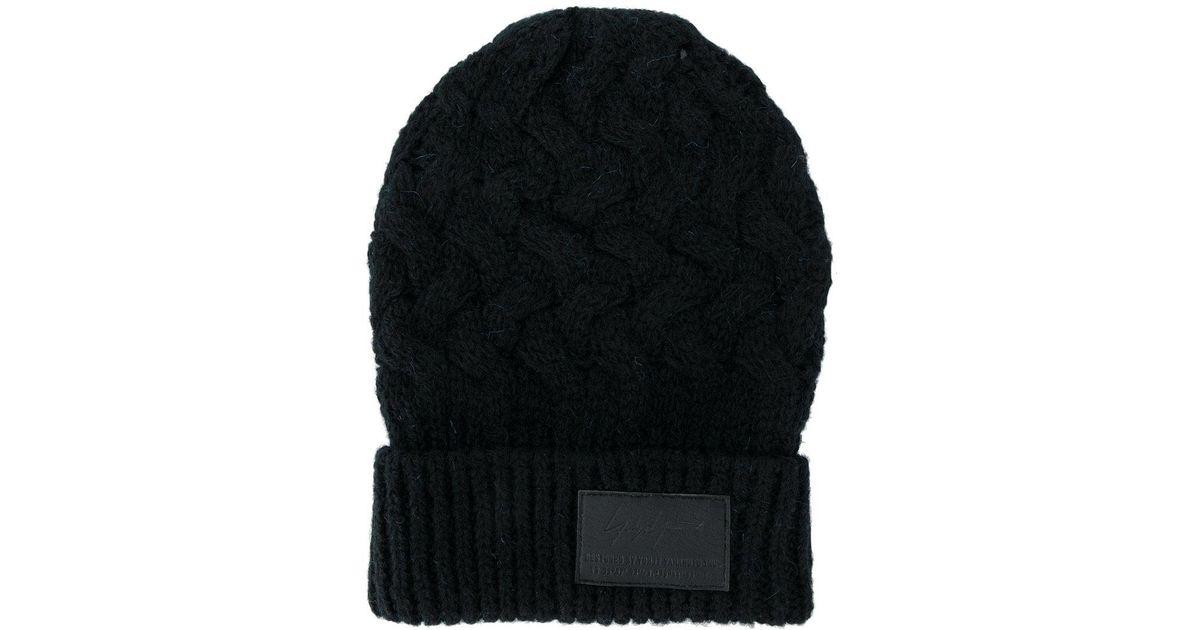 c70d27676a Lyst - Bonnet à patch logo Yohji Yamamoto pour homme en coloris Noir