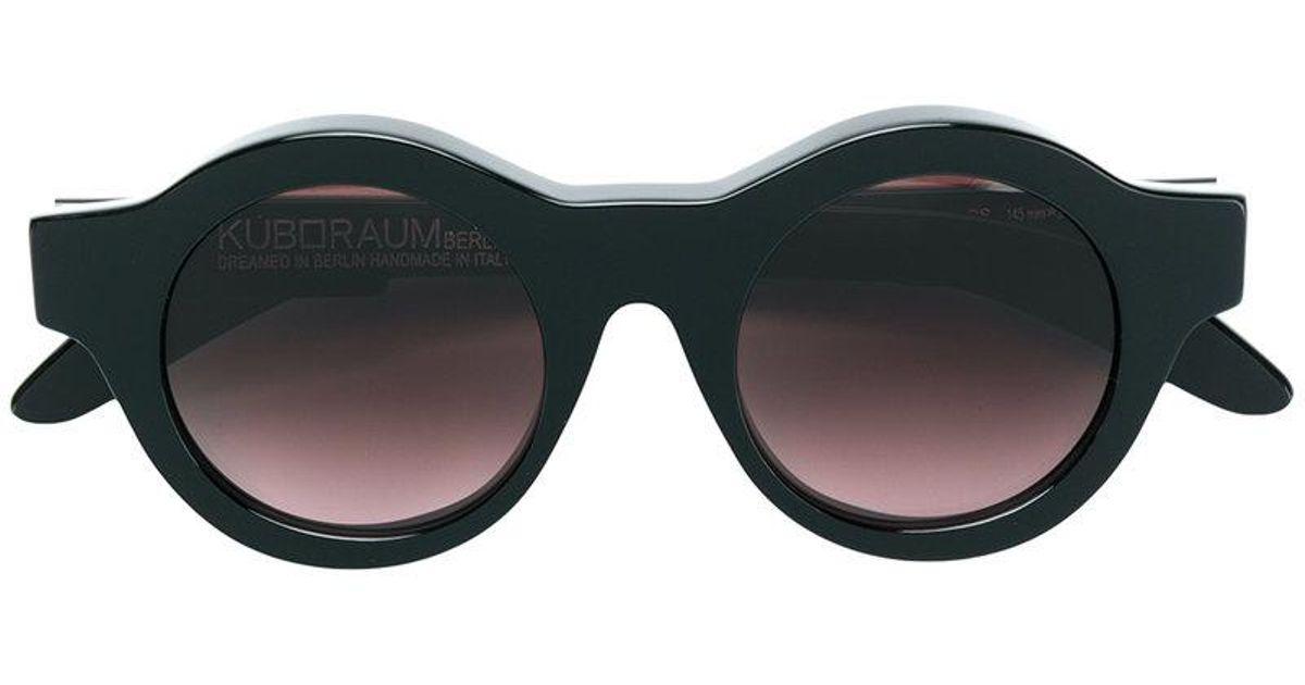 8cbae5648c76 Lyst - Kuboraum Round Sunglasses in Black