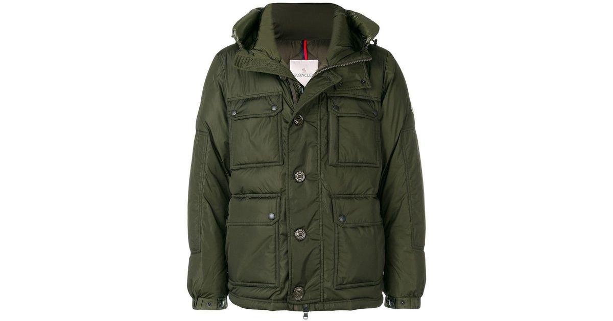 ba85490174f2 Lyst - Moncler Jovet Padded Jacket in Green for Men