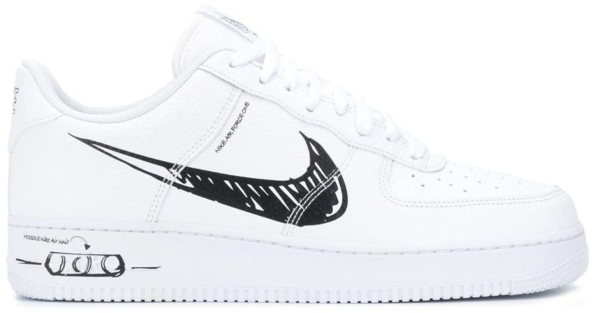 Nike Air Force 1 Lv8 Scribble Sneakers in White for Men - Lyst