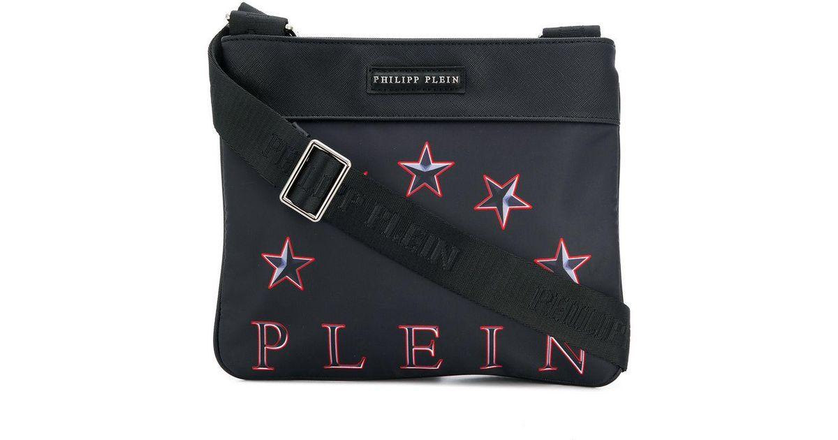 d88069dbbefb Philipp Plein Logo Messenger Bag in Black for Men - Lyst