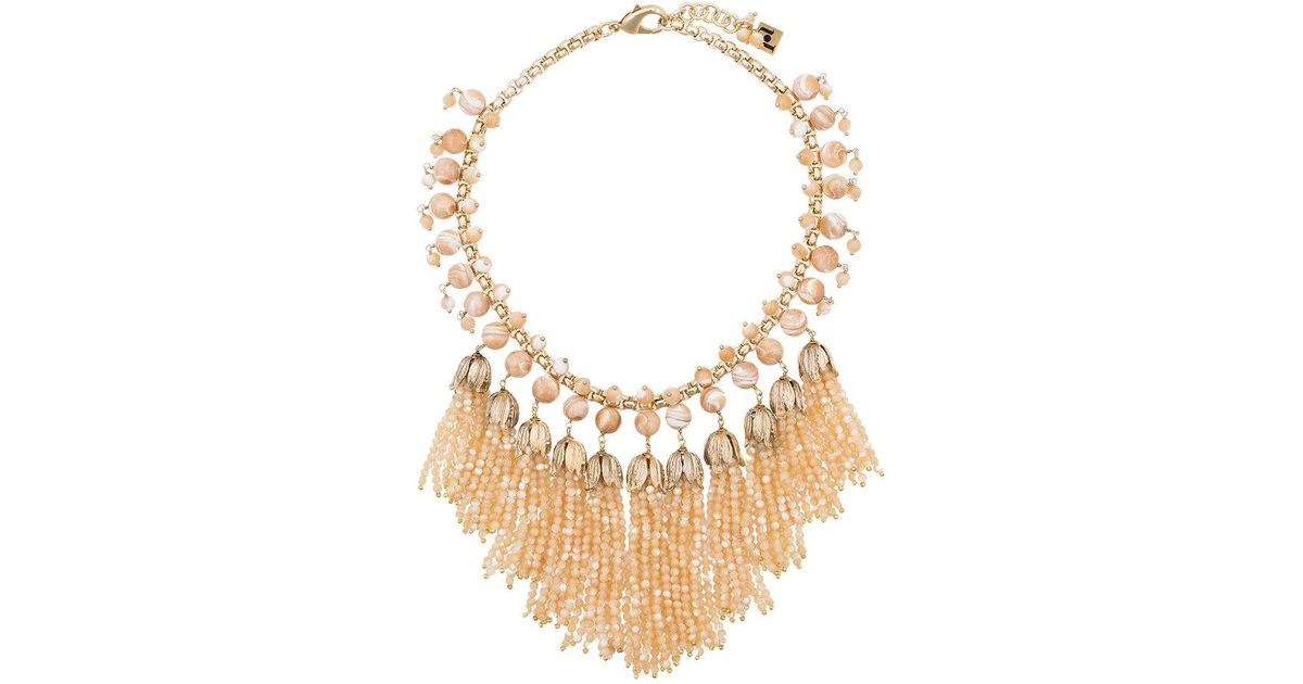 Rosantica neutral Grillo tassel bead necklace - Metallic wjbn3t3Y