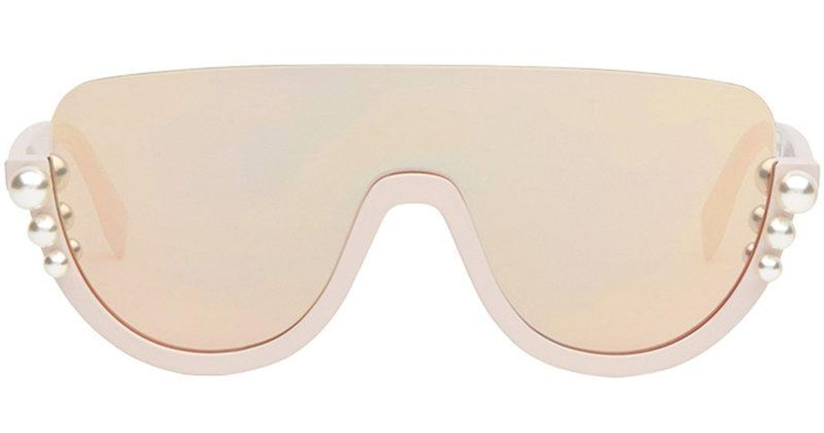6dff24bf98819 Fendi Ribbons And Pearls Sunglasses - Lyst
