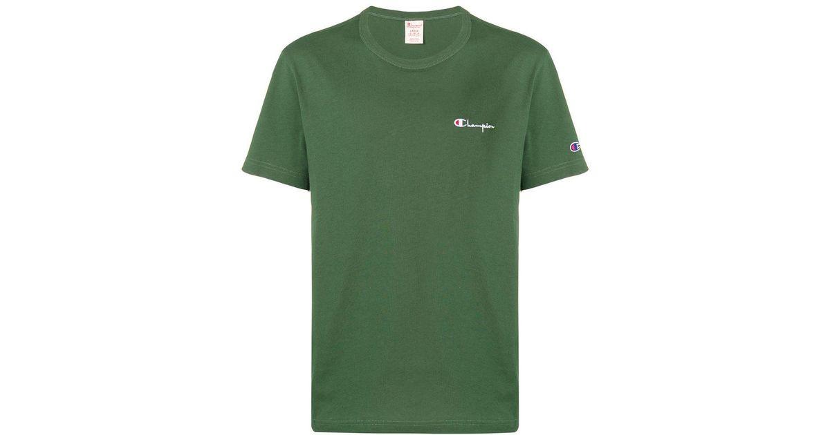 3ccadb51 Champion Branded Plain T-shirt in Green for Men - Lyst