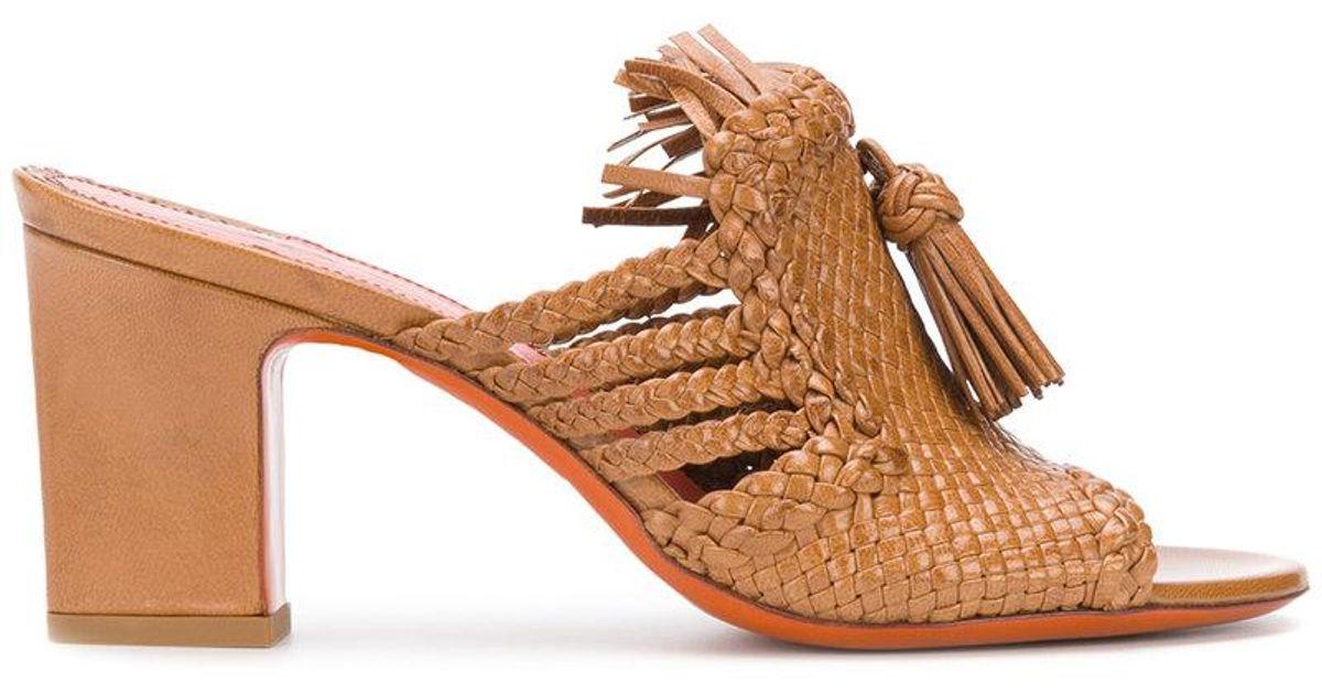 santoni Weave and tassel front sandals 7huNkL6W