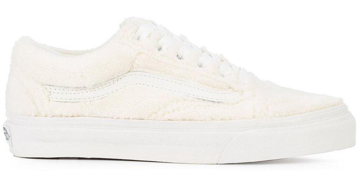 Lyst - Vans Old Skool Sherpa Sneakers in White for Men e1b36b917